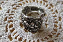 I Love Sterling Silver Spoon Rings / I have a LOVE of Antique and Vintage Spoon rings.  Each one is unique, and up until the past few decades, they were crafted out of love, for weddings and very special ocassions.