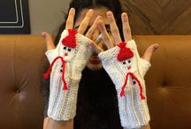 Mittens / Gloves / Scarf / Hat / Lovely mittens, Fingerless Gloves
