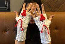 Mittens / Gloves / Scarf / Hat / Lovely mittens, Fingerless Gloves
