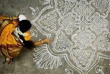 Mandala/Mandana/Kolam / Street drawings