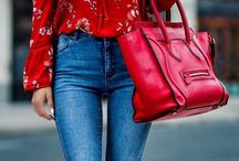 Rød bluse