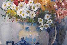 Akvarel- květiny