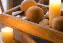 PORTA VELAS DE MADERA / Porta velas de madera para eventos y decoración.