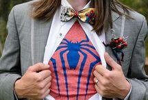 Comic & Superhero Themed Wedding / Comic & Superhero themed wedding #LionscrestManor #Lionscrest #ElegantImages #ComicThemeWedding #SuperheroThemeWedding #BrightColors #ColoradoWedding #Outdoorceremony