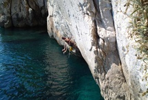 Deep Water Solo in Croatia / Deep water soloing (DWS) is relatively new discipline among climbers; fun and attractive it has become an instant hit in this region as a means to deal with awful summer heat. Climbing is done on vertical and overhanging cliffs and rocks above the sea surface; therefore every climbing begins and ends his session in the sea.