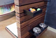 Outdoor dog bowl stations