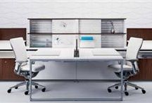 Storage-Based Workstations / Light-scale storage with a residential aesthetic, blending the work and home offices.