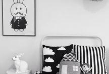Black and white children's room