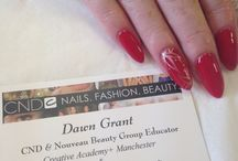 CND Shellac Minti Convertable with Lecente foil in Daybreak & CND Additive in Rose Notion / CND Nail Art