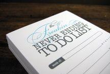 Planning, diaries, saving money and organising paper work