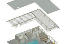 22 case study house axo