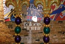 Mardi Gras Balloon Decor / Mardi Gras parties include vibrant greens, purple, and gold colors for masks, beads, costumes, and parades.  We've made it all with balloons!  Want more? Visit www.balloonsbytommy.com