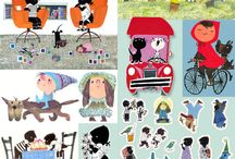 Kids--Lots of cute stuff / Several of these illustrations are from other countries. / by Mickey Betz