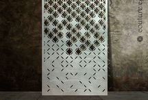 Abstract pattern laser cut metal screens
