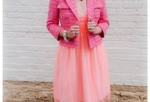 Pinks! / Pinks of every hue! #Pink Dress #Pink Plaid #Pink Fashion #Pink Suit