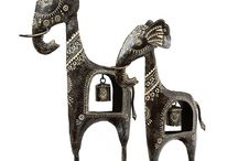 Set of Two Elephant with Belly Bells