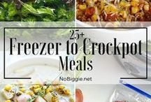 Freezer Cooking / Freezer meal recipes to help make cooking for a large family easier.