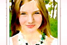 Portraits / Watercolor painting of portraits