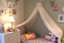 Interiors | 1st Big Girl Room / Beautiful pastel ideas for a toddler baby girls first big girl bedroom.  Lots of ideas of canopies to sleep under, pretty pastel pillows, accents, toys, and teepees to make her a dream bedroom that she will remember and want to look after.