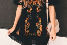Bohemian dresses.