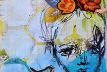 Art journal -ideoita
