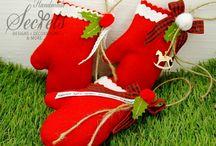 Μπομπονιέρες Χριστουγεννιάτικες / χειροποίητες μπομπονιέρες για τα Χριστούγεννα