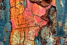 Oxidation rust and patina / Oxidation rust and patina