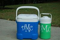Monogram with Vinyl Decal Ideas