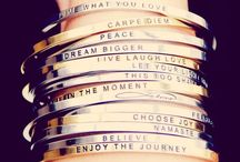 Jewelry love / New Mantraband bangle bracelets with inspirational messages  / by greenleaf gallery