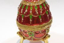 faberge eggs & designs / Every year from 1898 until 1904 Alexander Kelch ordered an Easter Egg from Fabergé, modeled on the Imperial series, as a present for his wife, who no doubt also paid for them. No doubt, too, that the Kelch Eggs cost them considerably more than those made for the Imperial family, given the parsimony of the Romanov's and the generosity of the nouveaux riches. The seven Kelch eggs are as fine, if not even more sumptuous, than those in the Imperial series. / by Millie Coquis