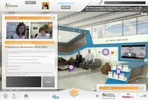 Espaces salon virtuel / Les différents espaces d'un salon virtuel