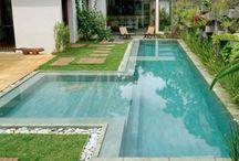 bazeny a zahrada