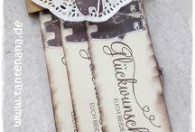 Hochzeitsideen handmade by Tante Nana / Na, hast Du Lust auf's Nachwerkeln bekommen ? Dann melde Dich zu einem meiner Hochzeits-Workshops an ... ich freu mich auf Dich ...