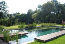 kerti tó+medence