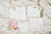 Pink, Blush & Peach | Custom Stationery & Inspiration / Pink, blush and peach wedding stationery including garden rose invitations, floral envelope liners, mauve ink envelope addressing, elegant response cards from some of our romantic and dreamy weddings.