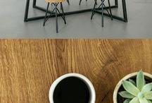 table bois metal