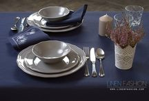Embroidered table linens