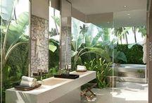 łazienka dzungla