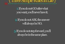 Ways to live life/ Things to try