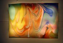 Leuchttafel aus Glas / hinterleuchtetes mundgeblasenes Glas aus der Glashütte Lamberts Waldsassen - Original made in Germany