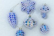 Новогодняя сказка! / Новогодние игрушки со снежинкой!