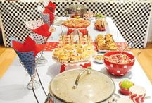 retro dinner party (table setting)