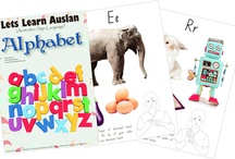 Auslan Resources / Alphabet - One of the first books in Australia to incorporate Auslan (Australian Sign Language) and full colour graphics in an easy to understand manner - this book has 26 pages which is the Alphabet.