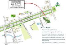 antriksh golf city noida location map