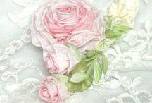 Ribbonwork roses / by Lee Ann Barnhart