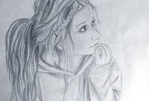 Drawings of teenage girls