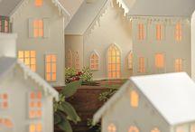 DIY paper houses christmas