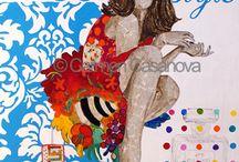 """Carmen Casanova / Carmen Casanova, Licenciada en Bellas Artes, Máster en Gestión y Producción artística, y cursando Doctorado en Bellas Artes; es una artista visual que ha creado el concepto de """"FE-MENINAS"""". Galardonada con diferentes premios y con una trayectoria de 16 exposiciones individuales y más de 45 colectivas. http://www.carmencasanova.es/"""
