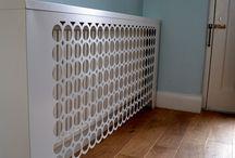 Geometric modern radiator covers