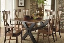 Amish Dining Sets / Our Amish-made dining sets are custom-made to your specifications. Our showroom has a largest display of Amish-made dining sets, Amish-made dining chairs, tables, cabinets, and bar stools in New Jersey metro area. All of our Amish-made dining products are made from select solid American grown hardwoods such as maple, oak, cherry, hickory, or walnut. Our Amish-made dining tables can be customized in the size, shape, and wood color of your choice.
